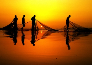 Follow Me and I will make you fishers of men.